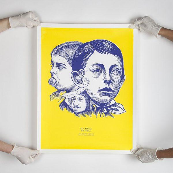 BLAUWGEEL silkscreened poster