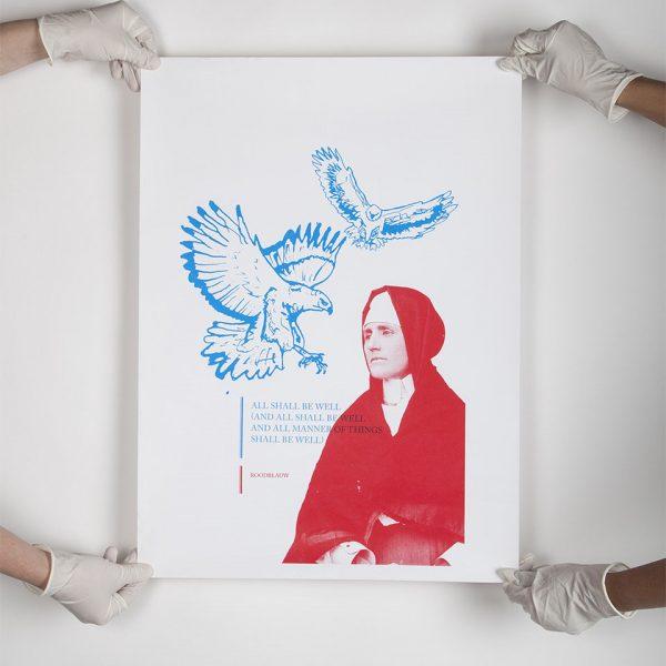 ROODBLAUW silkscreened poster